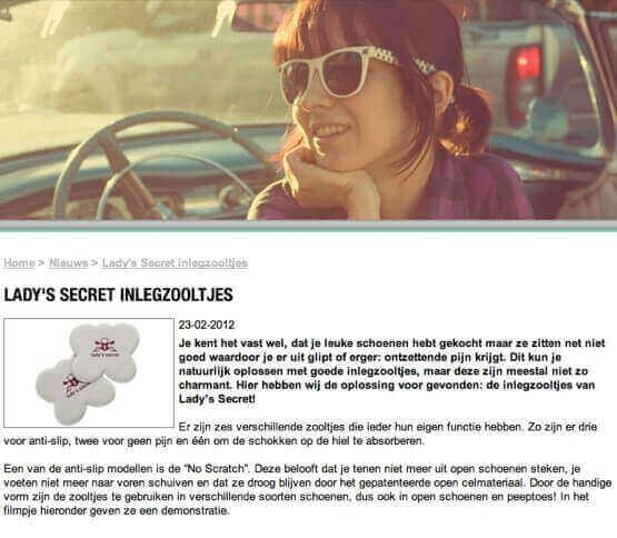 Lady's Secret inlegzolen schoenennl