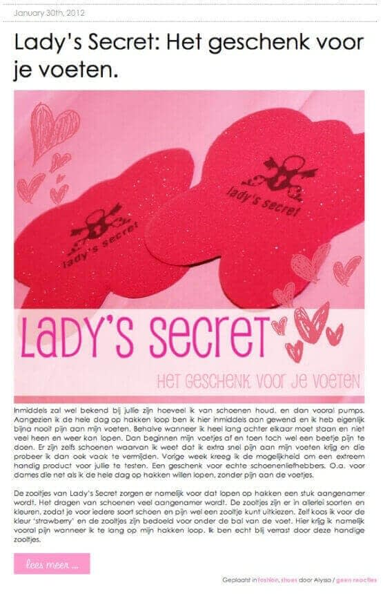 Lady's Secret inlegzolen missmurphy